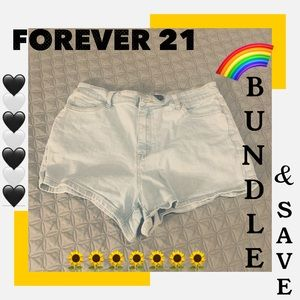 Forever 21 Cut off Denim Jean Shorts 12
